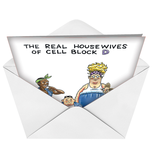 Housewives cell block funny birthday card funny birthday printed greeting card by daniel collins from nobleworkscards housewives cell block bookmarktalkfo Choice Image