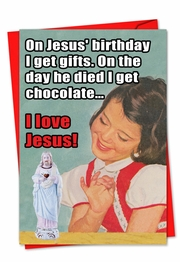 I Love Jesus Card