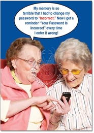 Incorrect Password Card