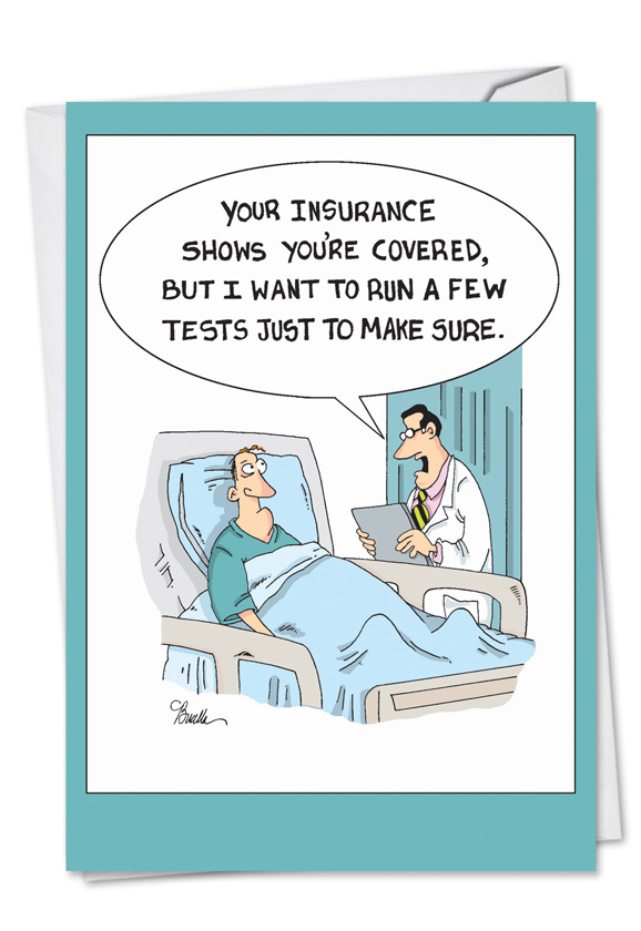 hilarious get well greeting card by martin bucella from nobleworkscardscom insurance tests - Get Well Greeting Cards