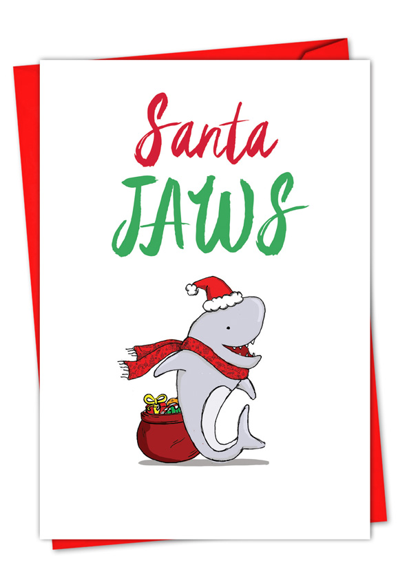 Merry Christmas Puns.It Was The Pun Before Christmas Shark Card
