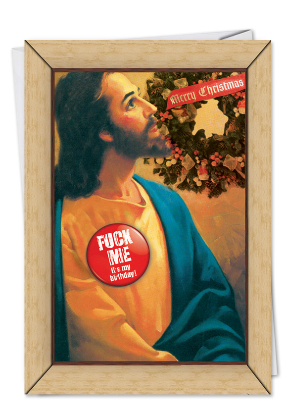 Funny Christmas Printed Greeting Card From NobleWorksCards