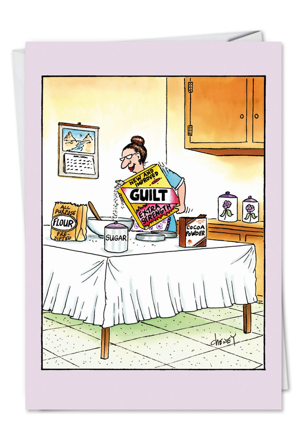 Humorous Birthday Mother Paper Greeting Card By Tom Cheney From NobleWorksCards