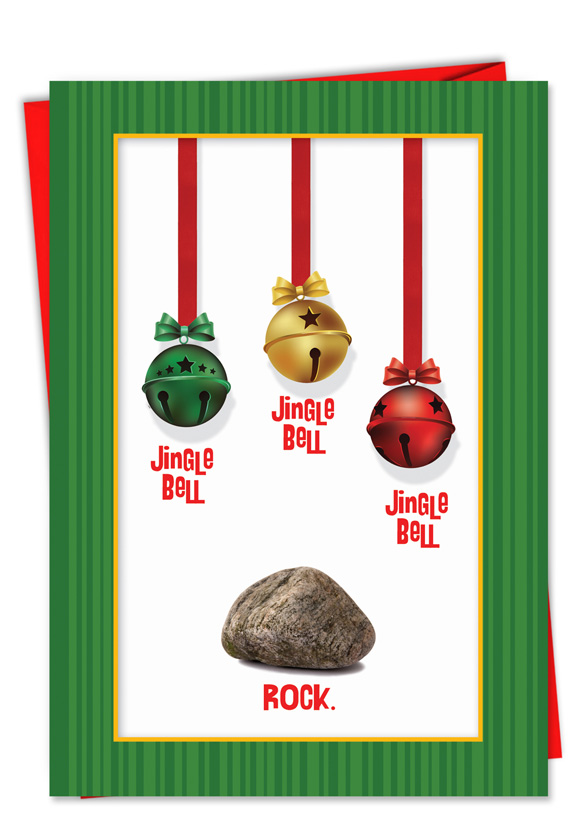 Jingle Bell Rock Christmas Funny Paper Card – Nobleworks Cards