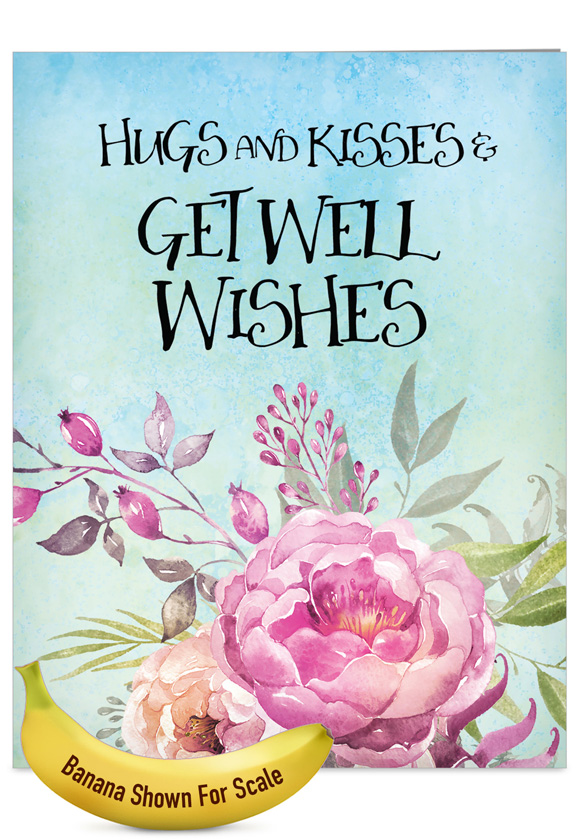 stylish get well jumbo paper greeting card by batya sagy from nobleworkscardscom get - Get Well Greeting Cards