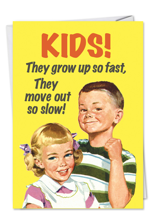 Unique funny birthday card kids grow up fast bookmarktalkfo Choice Image