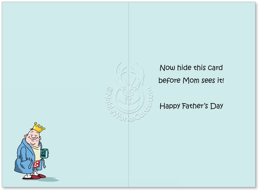 Hysterical Fathers Day Printed Greeting Card By D T Walsh From NobleWorksCards