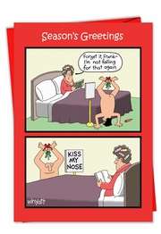 Kiss Nose Mistletoe Card