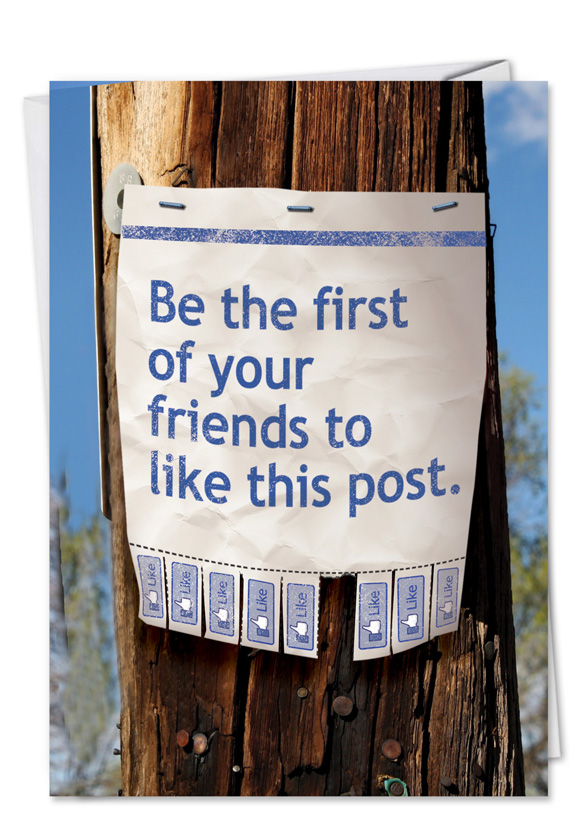 Like this post blank facebook telephone pole image greeting card m4hsunfo Choice Image