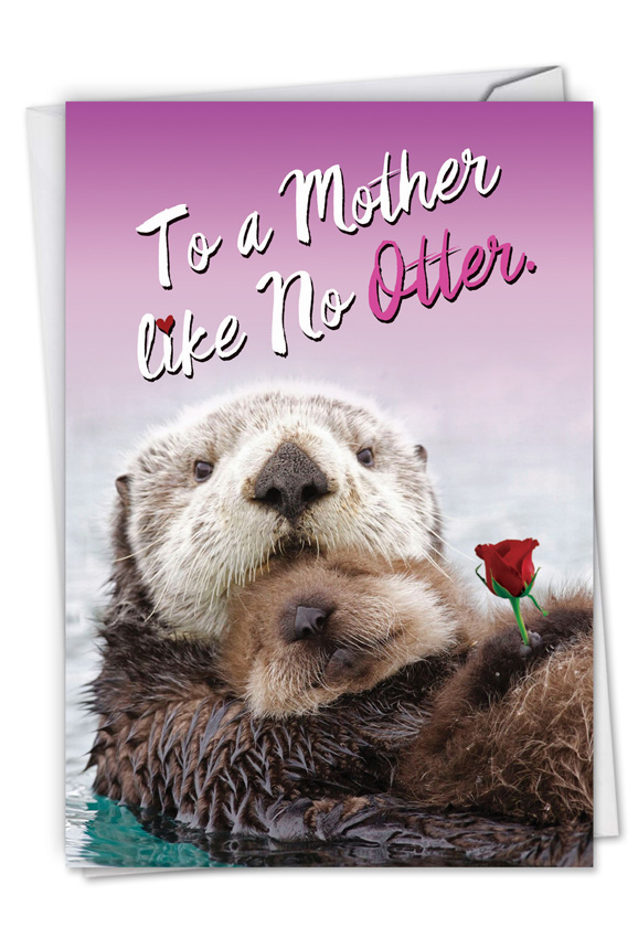 Little otters petigreet mothers day greeting card by nobleworks hysterical mothers day printed greeting card from nobleworkscards little otters m4hsunfo