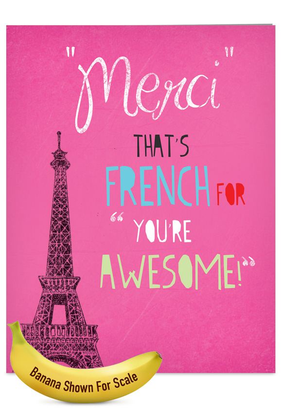 Merci youre awesome red rocket thank you greeting card nobleworks m4hsunfo
