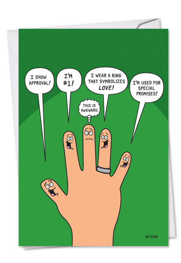Middle finger birthday joke paper card humorous birthday paper greeting card by scott metzger from nobleworkscards middle finger m4hsunfo