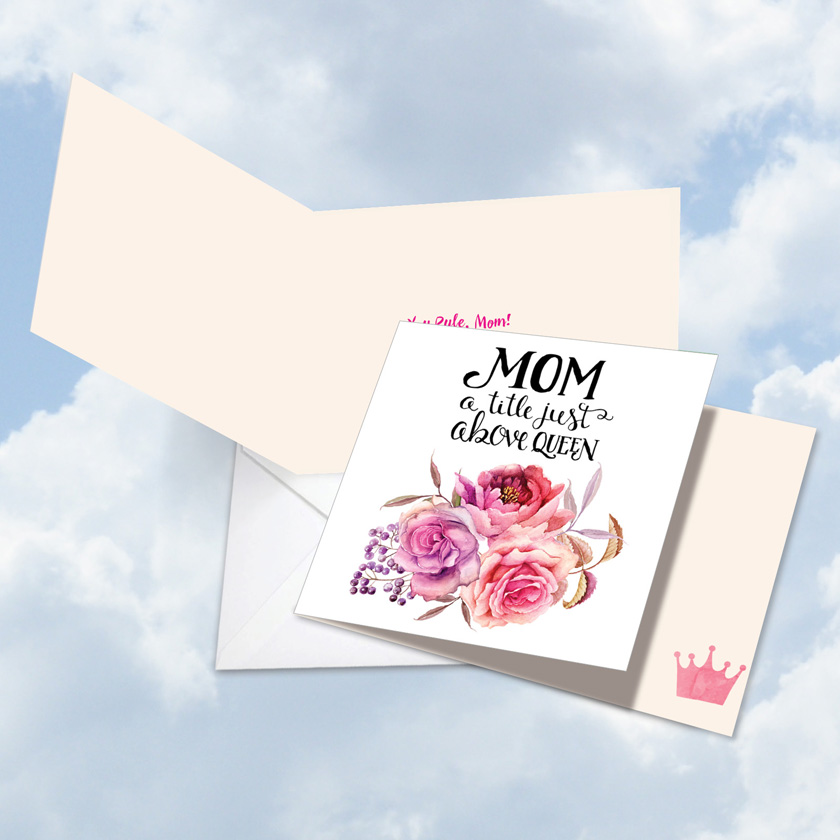 Square Mom Title Above Queen Nobleworks By Design Birthday Mother