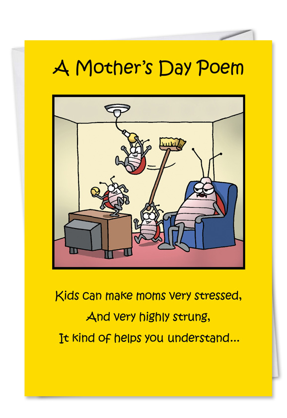 Funny Mothers Day Paper Greeting Card By Tim Whyatt From NobleWorksCards