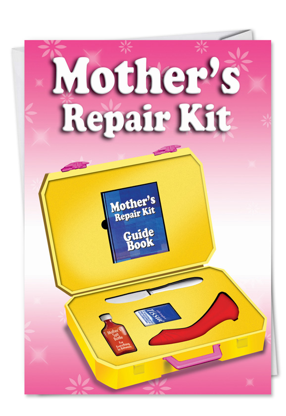 Moms repair kit funny birthday greeting cardnobleworks humorous birthday mother printed greeting card from nobleworkscards moms repair kit m4hsunfo