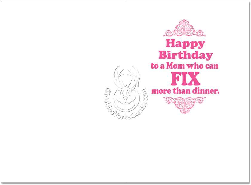 Moms Repair Kit Funny Birthday Greeting Cardnobleworks