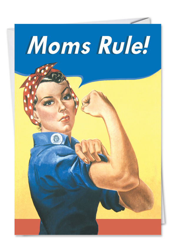 moms rule mother u2019s day greeting card