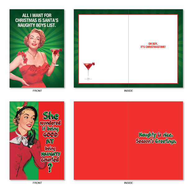 ... Hysterical Christmas Paper Card from NobleWorksCards.com - Naughty Is  Nice image 3 ...