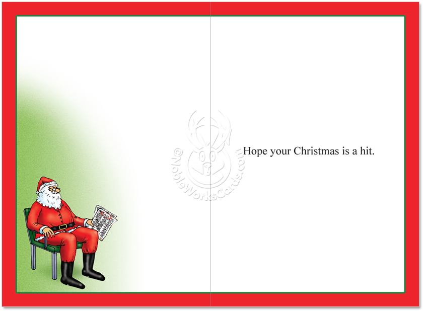 Hysterical Christmas Printed Greeting Card by Tom Cheney from  NobleWorksCards.com - Naughty Nice List ...