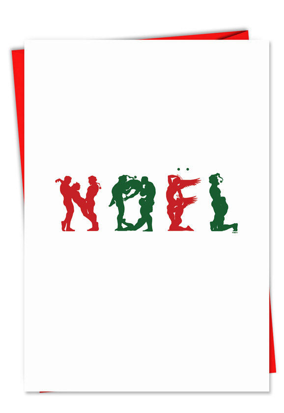 Naughty naughty noel christmas card broderick hysterical christmas greeting card by michael broderick from nobleworkscards naughty noel m4hsunfo