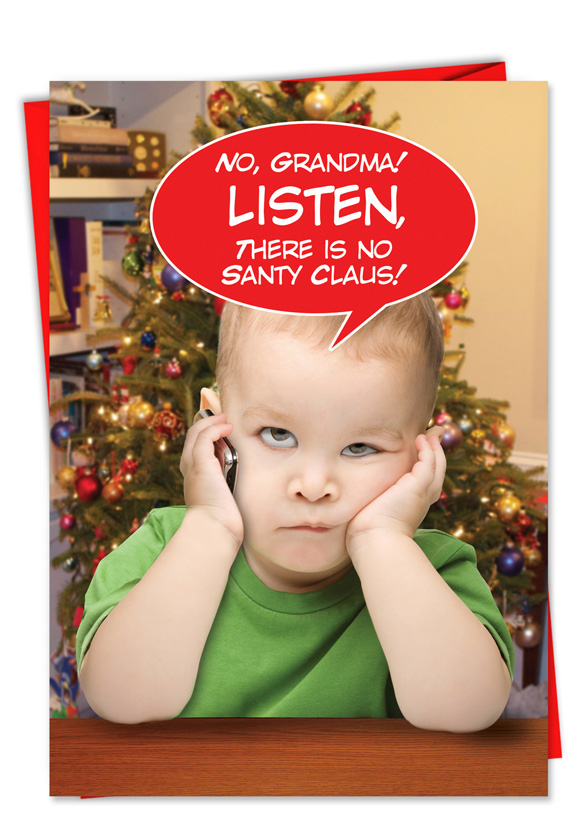 There Is No Santa Claus Christmas Card