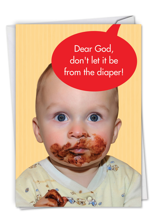 Not from the diaper oh baby birthday greeting card by nobleworks m4hsunfo