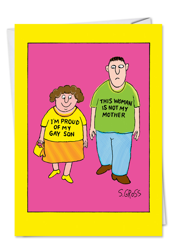 Mom proud of gay son mothers day funny greeting cardnobleworks m4hsunfo Images