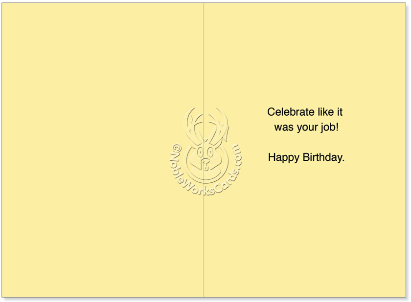 Not Really Co Workers Birthday Joke Greeting Card