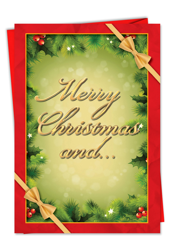 hilarious christmas paper card from nobleworkscardscom nothing for you whore
