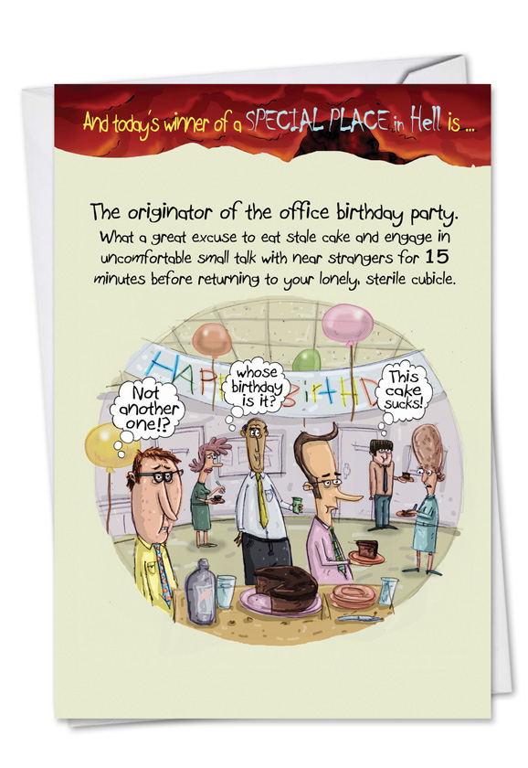 Office Birthday Party Cartoons Birthday Card Mike Shiell