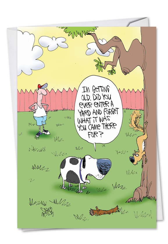 Funny Birthday Printed Card By Gary McCoy From NobleWorksCards