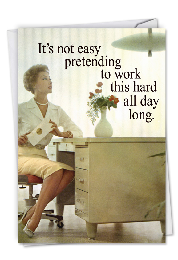 Old school secretary funny administrative professionals day card hilarious administrative professionals day printed greeting card by ephemera from nobleworkscards old school m4hsunfo
