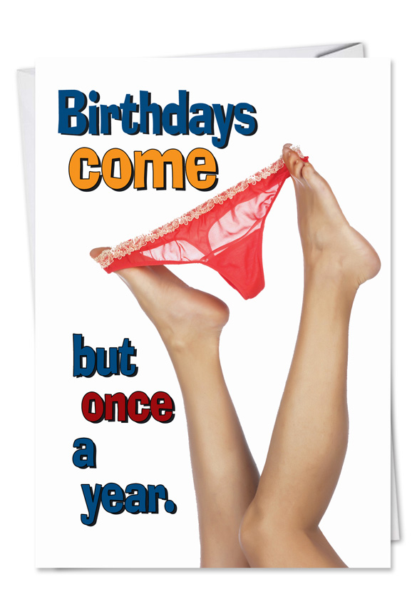 Hysterical Birthday Paper Greeting Card From NobleWorksCards