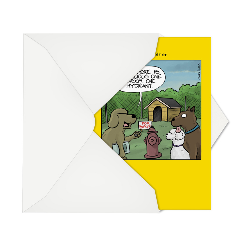 One hydrant humorous new home paper greeting card humorous new home paper greeting card by fakes nate from nobleworkscards one m4hsunfo
