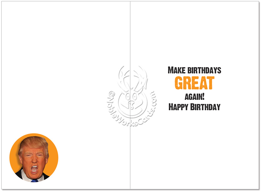 Orange New Black President Birthday Funny Card