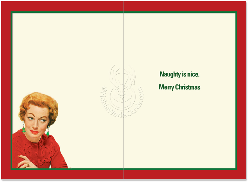Permanent Naughty List: Funny Christmas Paper Greeting Card