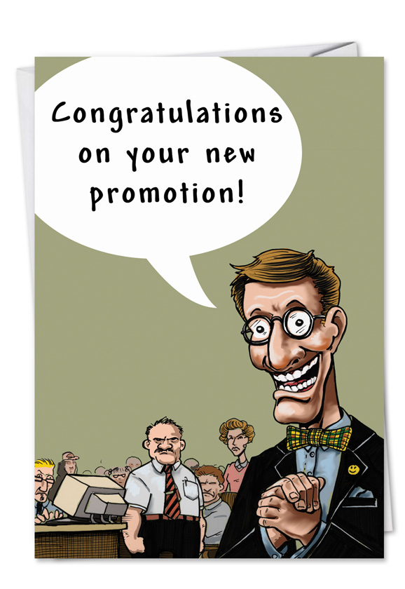 Promotion ass kiss funny cartoons congratulations card funny congratulations printed greeting card by erik hilliker from nobleworkscards promotion ass kiss m4hsunfo