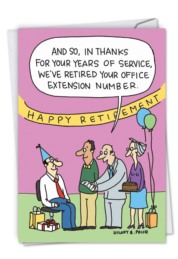 retired number cartoons retirement greeting card by hilary price rh nobleworkscards com Happy Retirement Cartoon female retirement cartoon images