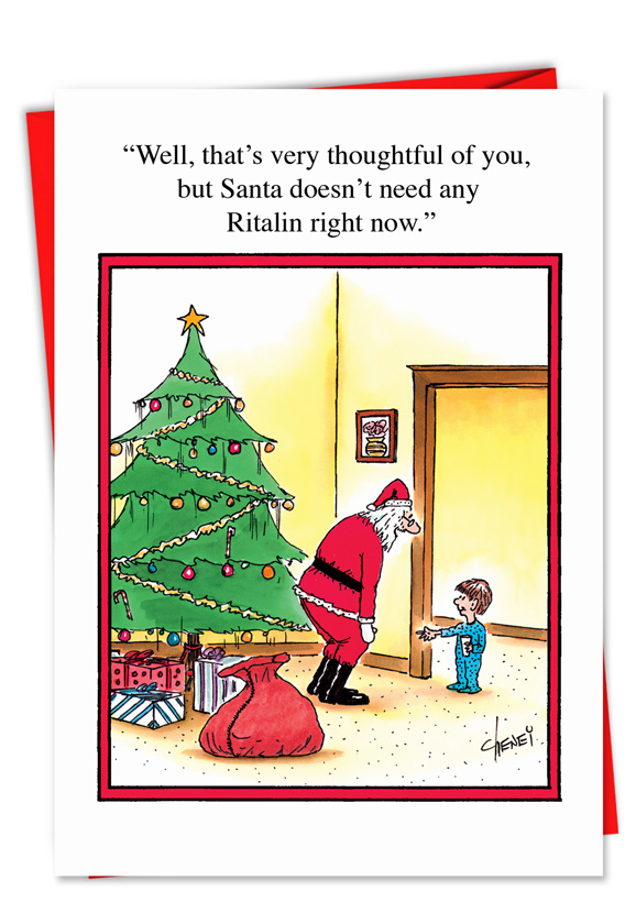 Naughty Nice List Talk Christmas Funny Paper Card – Nobleworks Cards