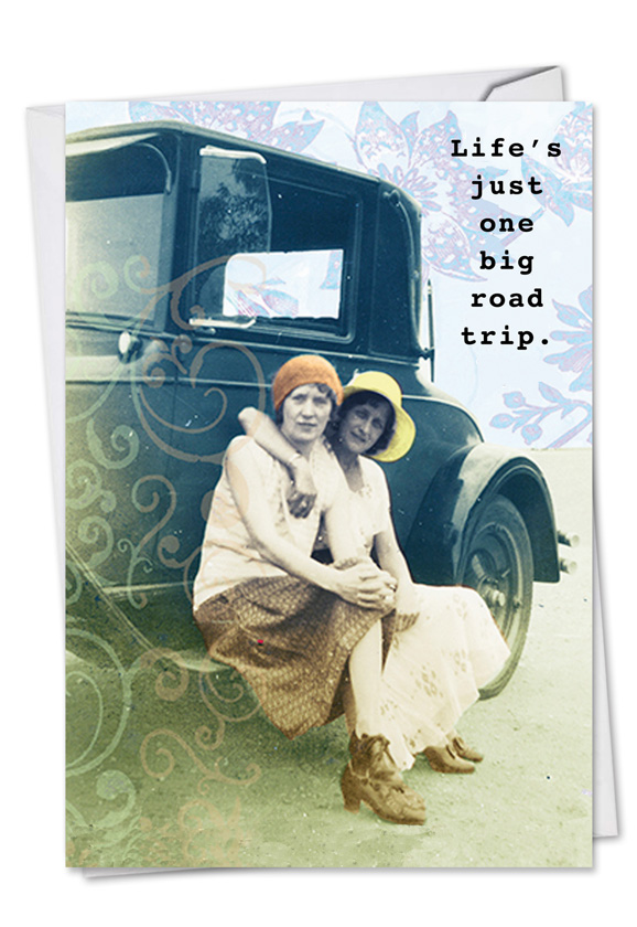 Road Trip Picture Birthday Paper Card Debbie Tomassi