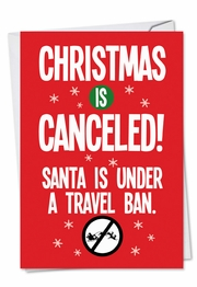 Santa Travel Ban Card