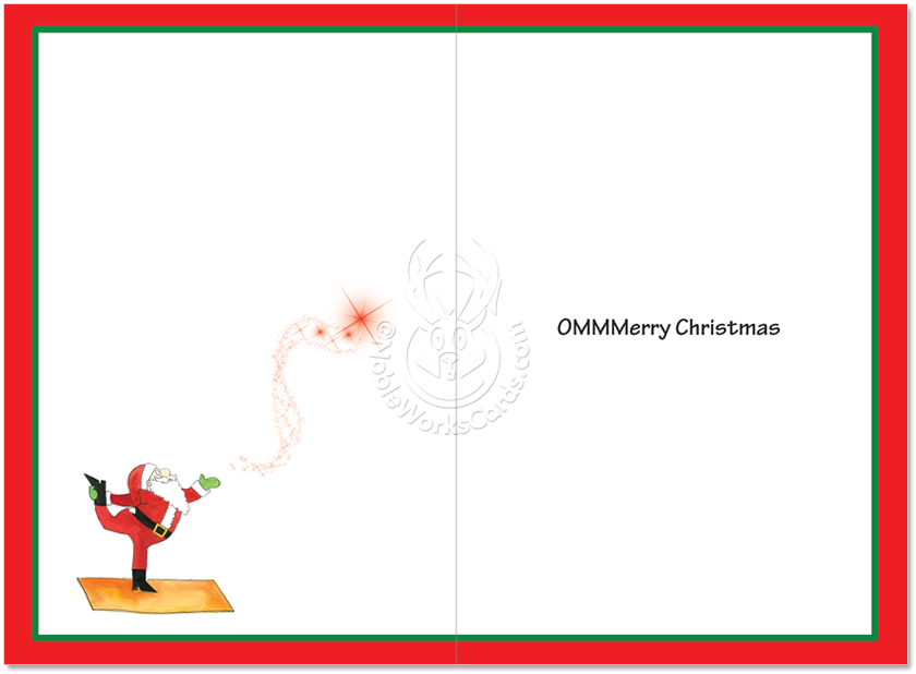 Funny Christmas Paper Card By Maria Scrivan From NobleWorksCards