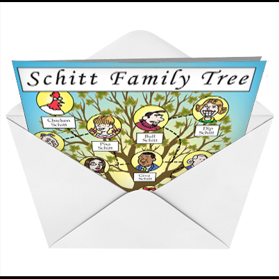schitt family tree blank cartoons not greeted greeting card daniel