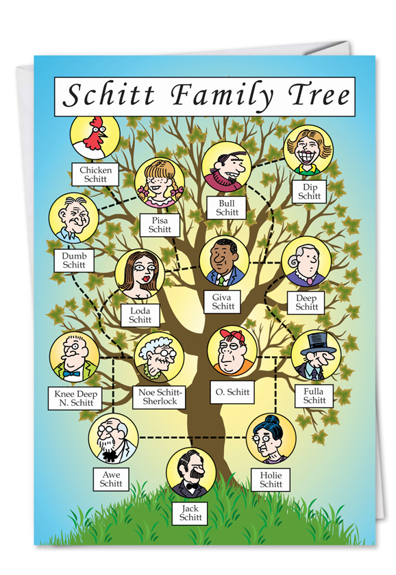 schitt family tree funny birthday card nobleworks com