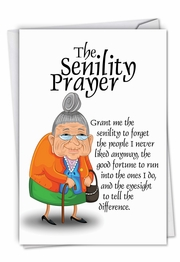 Senility Prayer Card