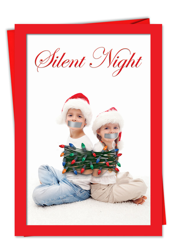 Risque Silent Night Christmas Card Jokesters