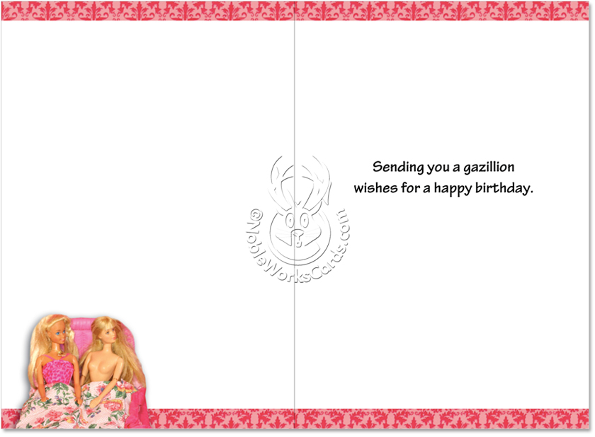 Sexy paper card greeting
