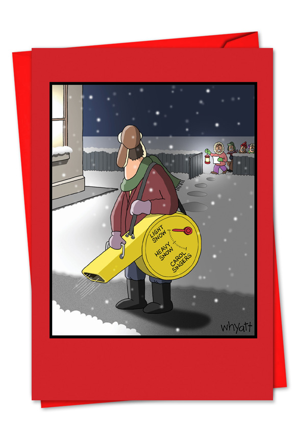 Snow Blower Reviews >> Snow Blower Settings Cartoons Christmas Card Tim Whyatt
