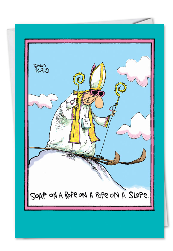 Soap On A Rope On A Pope Funny Birthday Card Ndash Nobleworkscards