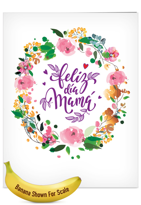 mother s day paper greeting card in spanish